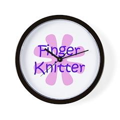 Finger Knitter Wall Clock