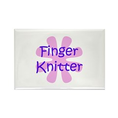 Finger Knitter Rectangle Magnet (100 pack)