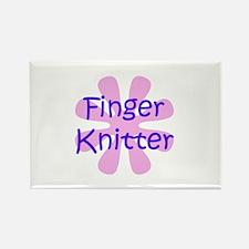 Finger Knitter Rectangle Magnet