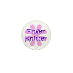 Finger Knitter Mini Button (10 pack)