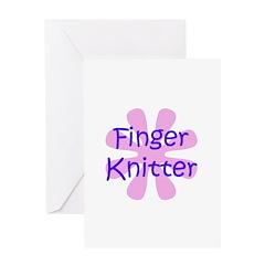 Finger Knitter Greeting Card