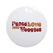 Peace, Love and Veggies Ornament (Round)