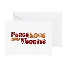 Peace, Love and Veggies Greeting Card