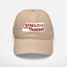 Peace, Love and Veggies Baseball Baseball Cap