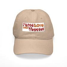 Peace, Love and Veggies Baseball Cap