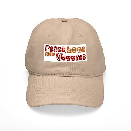 Peace, Love and Veggies Cap