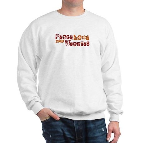 Peace, Love and Veggies Sweatshirt