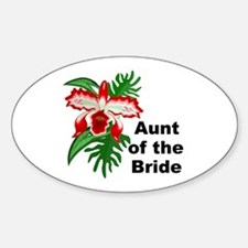 Aunt of the Bride Oval Decal