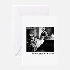 Knitting By the Hearth Greeting Card