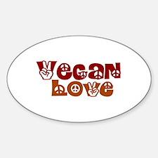 Vegan Love Oval Decal