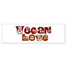 Vegan Love Bumper Car Sticker