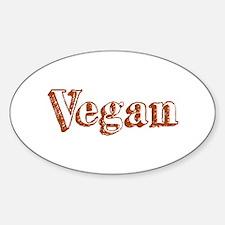 Vegan Oval Decal