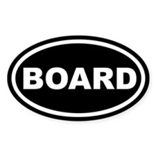 Board Euro Oval Decal