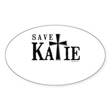 Save Katie ~ Oval Decal