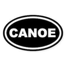 Canoe Euro Oval Decal