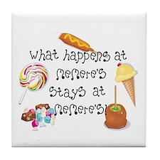 What Happens at Memere's... Tile Coaster