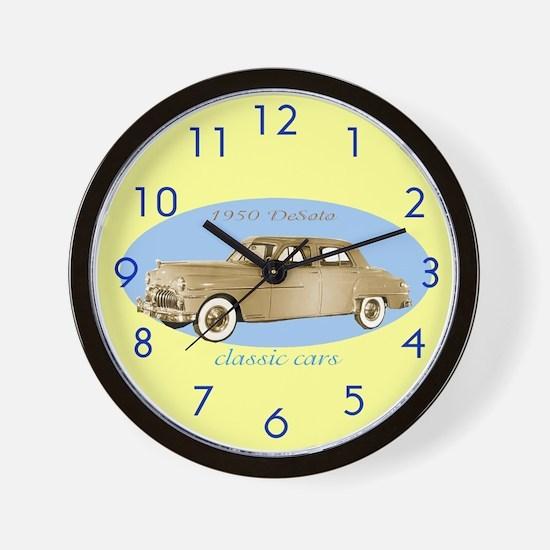 Classic Cars Wall Clock