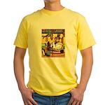 Knitting Bunny Rabbit Yellow T-Shirt