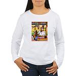 Knitting Bunny Rabbit Women's Long Sleeve T-Shirt