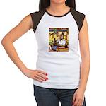 Knitting Bunny Rabbit Women's Cap Sleeve T-Shirt