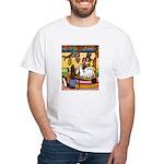 Knitting Bunny Rabbit White T-Shirt