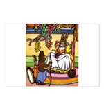 Knitting Bunny Rabbit Postcards (Package of 8)