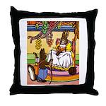 Knitting Bunny Rabbit Throw Pillow