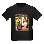 Knitting Bunny Rabbit Kids Dark T-Shirt