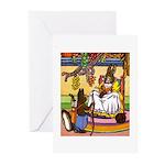 Knitting Bunny Rabbit Greeting Cards (Pk of 20)