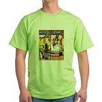 Knitting Bunny Rabbit Green T-Shirt