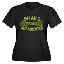 Shake Your Shamrocks Women's Plus Size V-Neck Dark