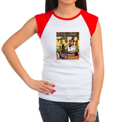 Easter Bunny Knitting Women's Cap Sleeve T-Shirt