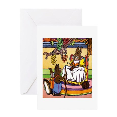 Easter Bunny Knitting Greeting Card