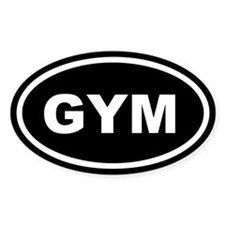 Gym Euro Oval Decal