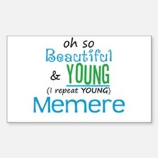 Beautiful and Young Memere Rectangle Decal
