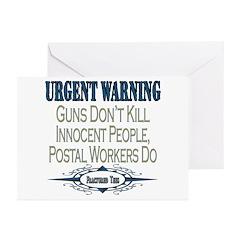Urgent Warning Greeting Cards (Pk of 10)