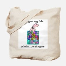 Happy Easter Bunny Quilt Tote Bag