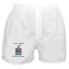 Happy Easter Bunny Quilt Boxer Shorts