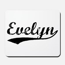 Vintage Evelyn (Black) Mousepad