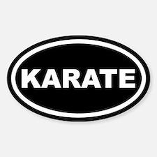 Karate Euro Oval Decal