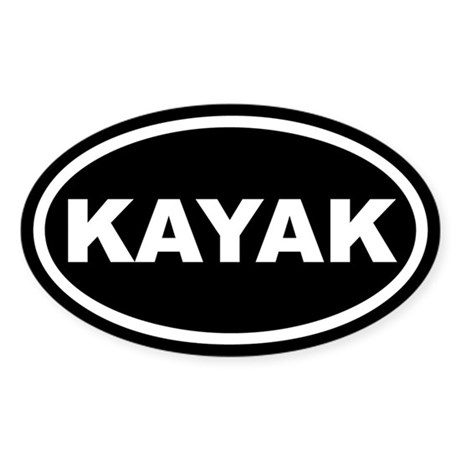 Kayak Euro Oval Sticker