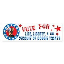 Vote for Min Pin Bumper Bumper Sticker