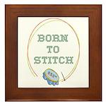 Born To Cross-Stitch Framed Tile
