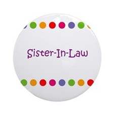 Sister-In-Law Ornament (Round)