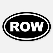 Row Euro Oval Decal