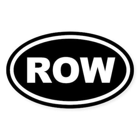 Row Euro Oval Sticker