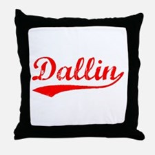 Vintage Dallin (Red) Throw Pillow