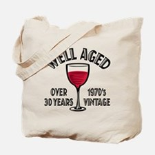 Over 30th Birthday Tote Bag