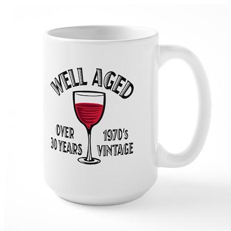 Over 30th Birthday Large Mug