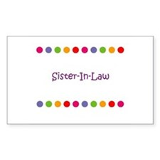 Sister-In-Law Rectangle Decal